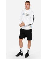 Express Orlando Magic Nba Heavyweight Foil Graphic Hooded T-shirt White Xs