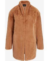 Express Cosy Faux Fur Coat Camel - Brown