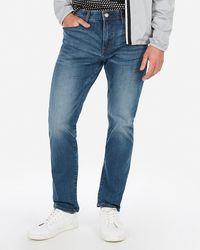 Express Classic Slim Stretch+ Tough Medium Wash Jeans - Blue