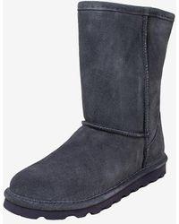 Express Bearpaw Elle Short Suede Boots Grey 8
