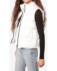 Express Bb Dakota Quilted Nylon Camo Puffer Vest White Xs