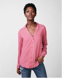 Express - Ped Pyjama Collar Shirt - Lyst