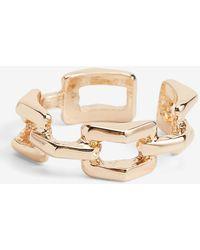 Express Chain Link Ring Shiny Gold - Metallic