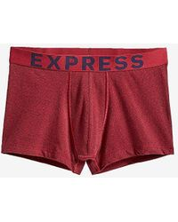Express Marled Sport Trunks - Red
