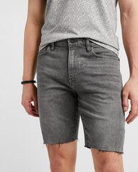 Express Faded Black Hyper Stretch Jean Shorts