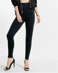 Express   High Waisted Ponte Knit Leggings   Lyst