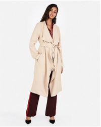 Express - Zip Pocket Soft Trench Coat - Lyst