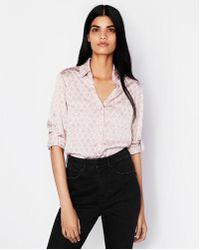Express - Original Fit Quatrefoil Portofino Shirt - Lyst