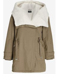 Express Sherpa Lined Anorak Olive Green