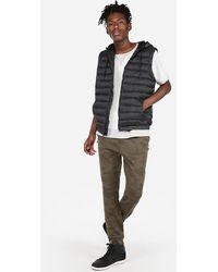 Express Hooded Puffer Vest Black