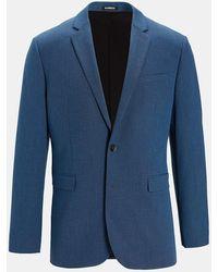 Express - Slim Textured Blue Modern Tech Suit Jacket - Lyst