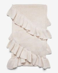 Express - Marled Double Ruffle Oblong Scarf - Lyst