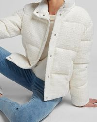Express Boucle Puffer Jacket Neutral - Multicolor