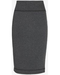 Express High Waisted Reversible Pencil Skirt Grey Xxs