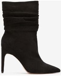 Express Slouch Heeled Booties Pitch Black