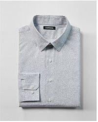 Express - Extra Slim Fit Paisley Print Cotton Dress Shirt - Lyst