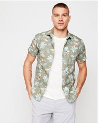 290cbfe83 Lyst - Tommy Hilfiger Men's Slim-fit Embroidered Parrot Cotton Shirt ...