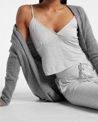 Express V-neck Pajama Cami Gray
