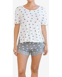 Express Honeydew Intimates Pyjama Short Set Light Grey