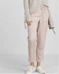 Express High Waisted Ankle Zip Cargo Pant - Pink