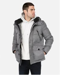 Express - Hooded Water-resistant Tech Parka - Lyst