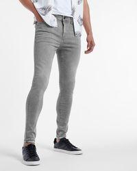 Express Super Skinny Faded Grey Temp Control Hyper Stretch Jeans