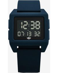 Express Adidas Archive Sp1 Blue Silicone Watch Blue