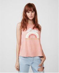Express - Tanlines And Tequila Graphic Muscle Tank - Lyst