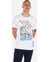 Express Memphis Grizzlies Nba Crew Neck Graphic T-shirt White Xs