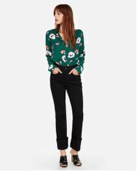 Express - Slim Fit Floral Dot Covered Button Portofino Shirt - Lyst