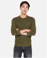 Express - Textured Crew Neck Sweater - Lyst