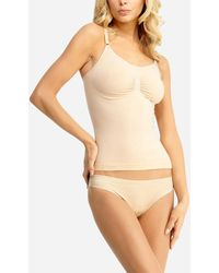 Express Slimme By Memoi Shaping Cami Brown L - Natural