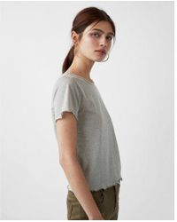 Express - One Eleven Metallic Abbreviated Tee - Lyst