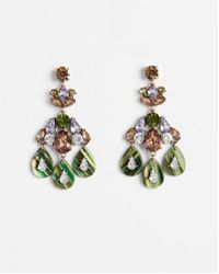 Express - Mixed Stone And Resin Teardrop Earrings - Lyst