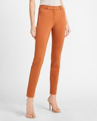 Express Mid Rise Knit Skinny Pant Brown 6