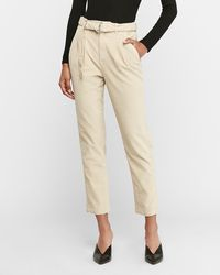 Express High Waisted Belted Corduroy Trouser Pant Pink 0 Short, By