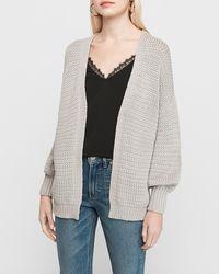 Express Chunky Knit Cardigan Grey Xs - Gray