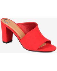 Express Journee Collection Comfort Foam Allea Open-toe Heel Red 7.5