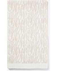 Express Tiger Oblong Scarf Ivory - White