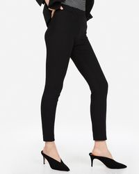 Express Mid Rise Stretch Skinny Pant Pitch Black