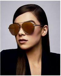 Express Privé Revaux The G.o.a.t. Sunglasses - Metallic