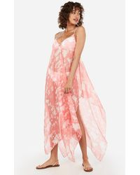 Express Tie Dye Swim Cover-up - Pink