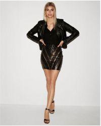 Express - Chevron Sequin Mini Skirt - Lyst