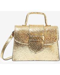 Express Steve Madden Beverlee Metallic Bag Gold