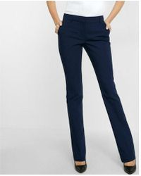 Express - Mid Rise Barely Boot Columnist Pant - Lyst