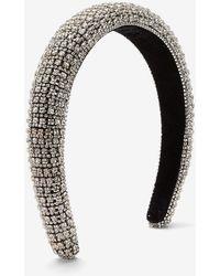 Express Rhinestone Studded Headband Silver - Metallic