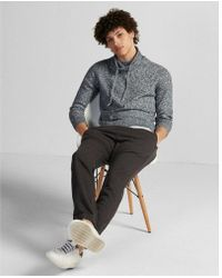 Express - Ig & Tall Marled Funnel Neck Pullover Sweater - Lyst