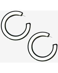 Express Tuleste Chanel Hoop Earrings Black