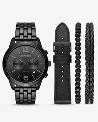 Express - Whittier Multi-function Watch Gift Set - Lyst