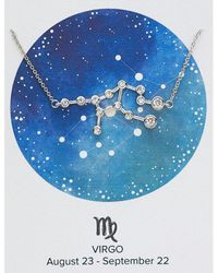 Express Sterling Forever Silver Virgo Constellation Necklace Silver - Metallic